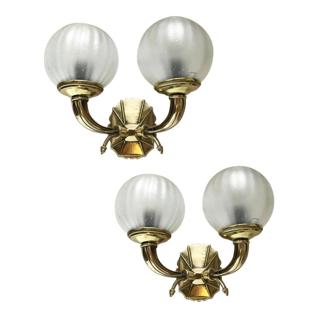 Vintage French Bronze Sconces - a Pair For Sale