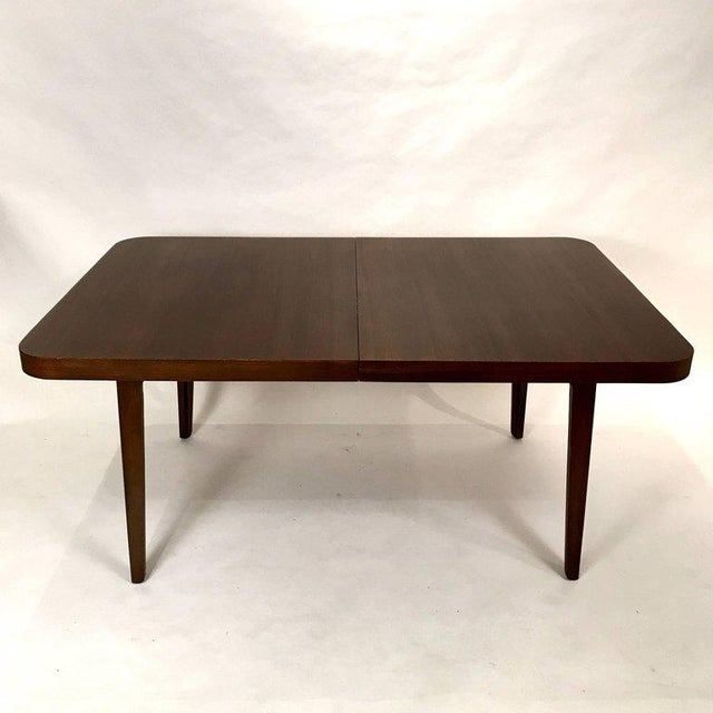 Mid-Century Modern Stunning Midcentury Edward Wormley for Drexel Walnut Extension Dining Table For Sale - Image 3 of 11