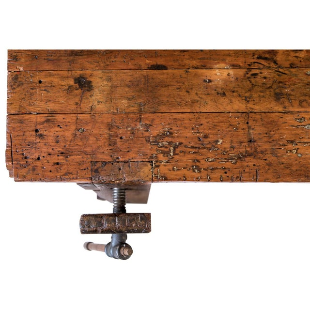 Metal Rustic Carpenter's Workbench Sideboard For Sale - Image 7 of 13
