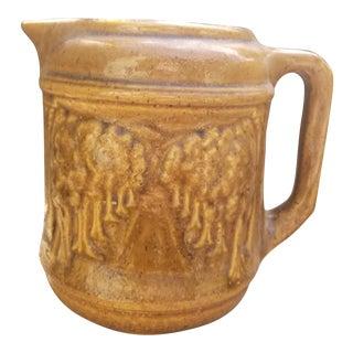 Vintage English Salt Glaze Brown Stoneware Jug For Sale
