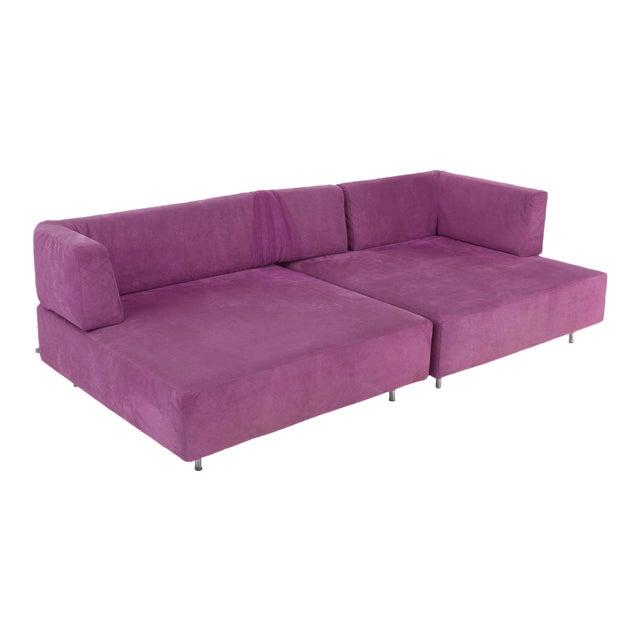 Edra l'Homme Et La Femme Modular Sofa by Francesco Binfaré For Sale