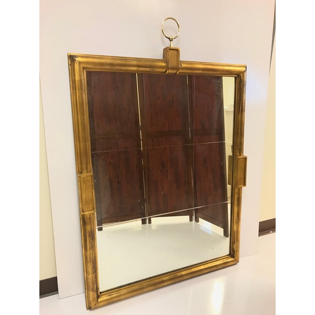 Large Tommi Parzinger mirror. The original mirror is divided into nine sections with deep etching. Parzinger originals....