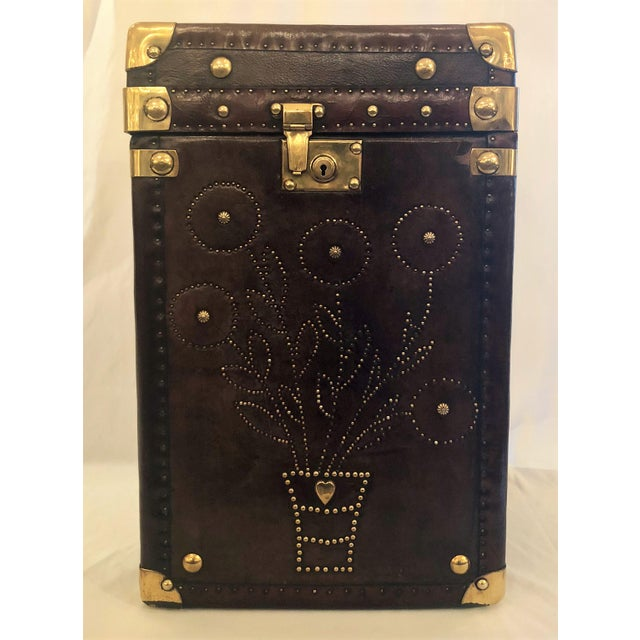 Antique English Leather Military Campaign Trunk / Luggage. For Sale In New Orleans - Image 6 of 6