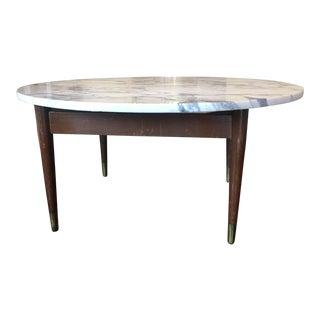 Italian Mid-Century Modern Marble Top Coffee Table