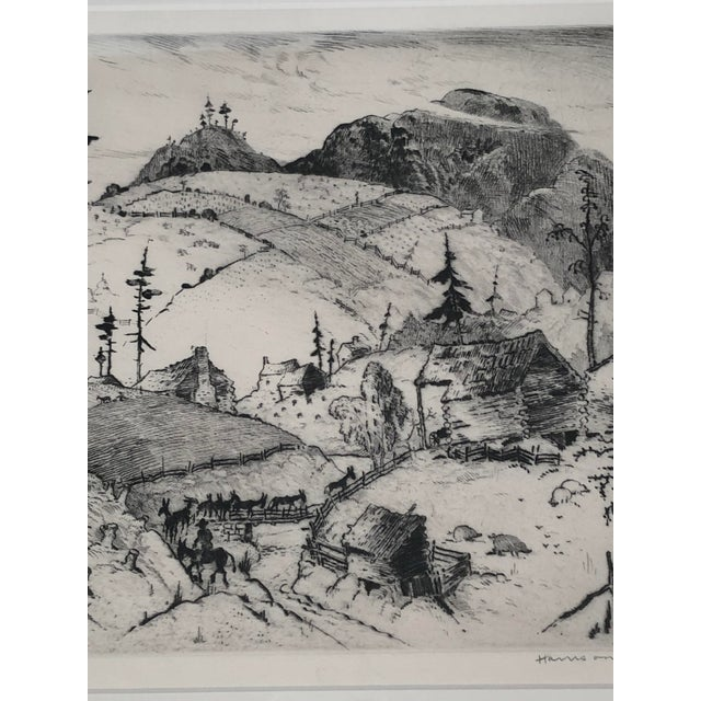 """""""Mountain Farms Near Spruce Pine, North Carolina"""" Etching by Harrison Cady For Sale - Image 11 of 13"""