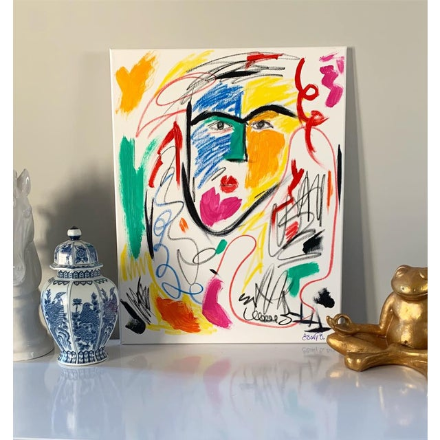 """This Gorgeous painting comes from the Faces Series by Memphis artist Ebony Boyd. This piece is entitled """"He is a Queen.""""..."""