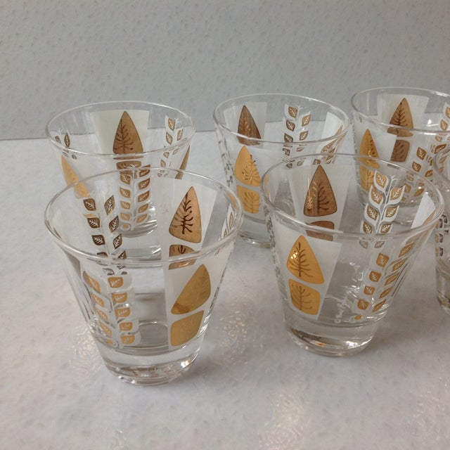 Fred Press Mid-Century Gold Tree Shot Glasses- S/8 - Image 9 of 11