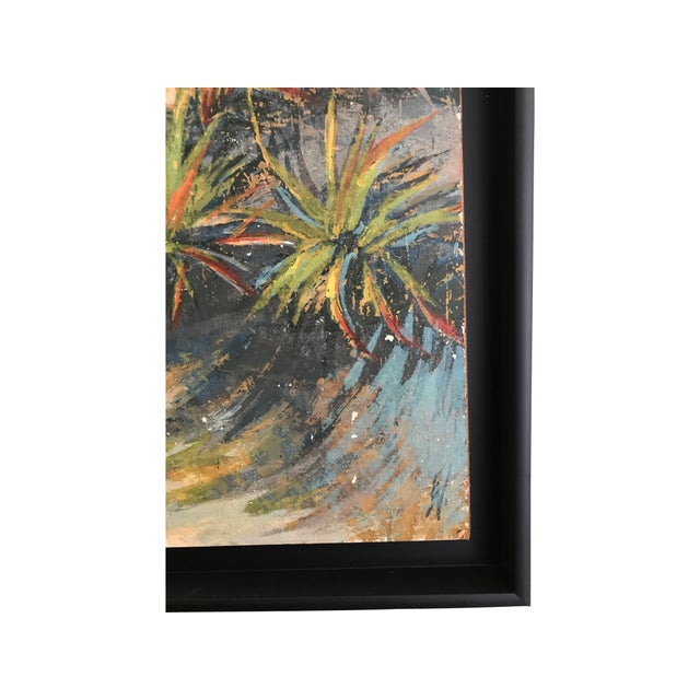 The pictures simply do not do this mixed media, vintage painting justice. Serene colors of a coastline with beautiful...