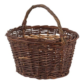 1940s French Wicker Basket From Provence For Sale