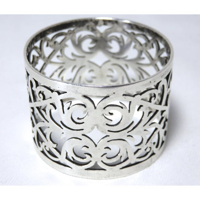 1910s Early 20th Century Antique John Round Sterling Silver Napkin Ring For Sale - Image 5 of 7
