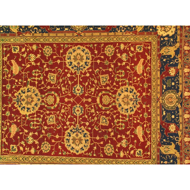 "Traditional Traditional Pasargad N Y Sumak Sultanabad Design Hand-Knotted Rug - 7'9"" X 8'11"" For Sale - Image 3 of 5"