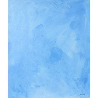 Baby Blue Abstract in Gouache Mid-Late 20th Century For Sale