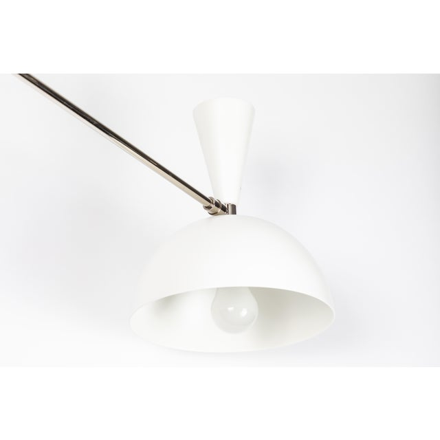 Large Three-Cone 'Lola II' Chandelier in White and Chrome For Sale - Image 10 of 11