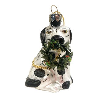 Old World Style Dog Ornament Staffordshire Spaniel Spotted For Sale
