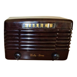 1948 Antique Tele-Tone Radio, Restored For Sale