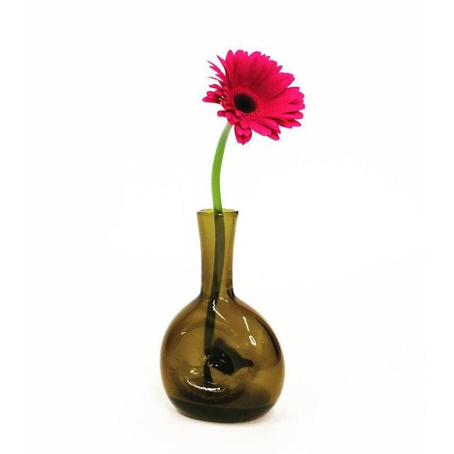 Vintage Amber Vase For Sale In Washington DC - Image 6 of 6
