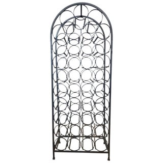 Arthur Umanoff for Shaver Howard 39-Bottle Wrought Iron Wine Rack For Sale