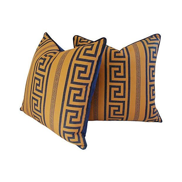 Designer Pierre Frey Greek Key Pillows - A Pair - Image 6 of 8