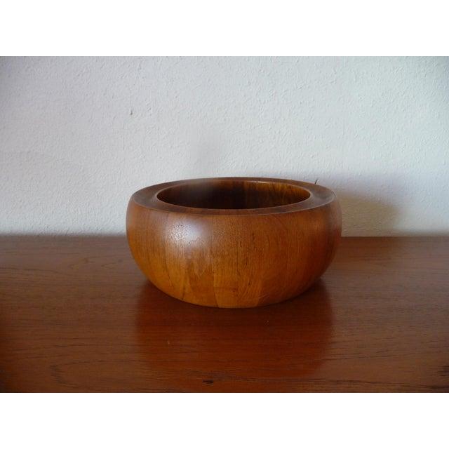 Danish Modern 1960s Danish Modern Digsmed Teak Bowls - a Pair For Sale - Image 3 of 10