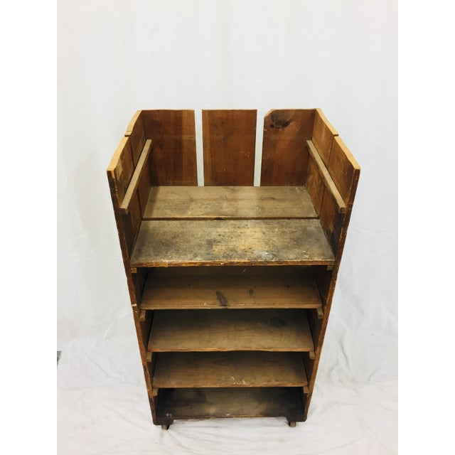 Antique Wood Factory Cart For Sale - Image 4 of 11