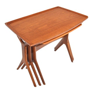 Johannes Andersen for Cfc Teak Nesting Tables - 3 Pieces For Sale