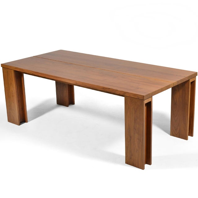 This exceptional table by Portugal's De La Espada is crafted of rich, solid American black walnut. The model 538 design is...