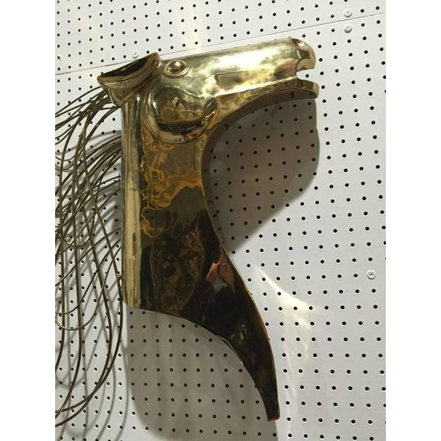 Brass Curtis Jere Horse Wall Sculpture For Sale - Image 7 of 8