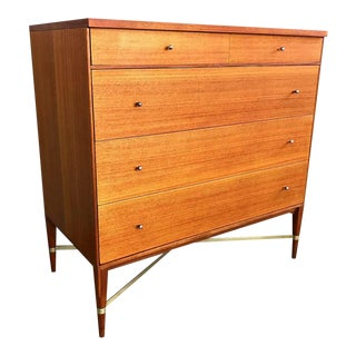 Early & Rare Mahogany Dresser by Paul McCobb for Calvin For Sale