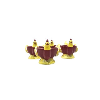 Ceramic Rooster Egg Cups - Set of 4