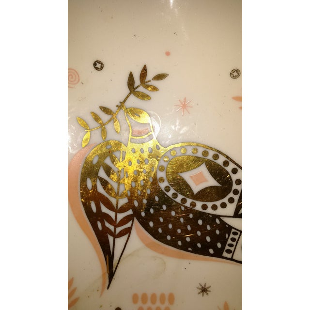 Georges Briard Pink & Gold Dove Dish - Image 5 of 8