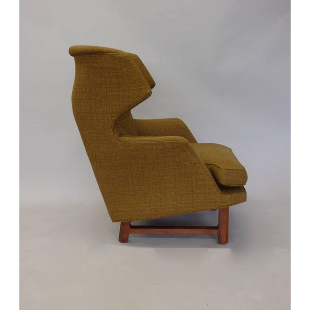 Dunbar Furniture Original Edward Wormley for Dunbar Modernist Wingback Lounge Chair For Sale - Image 4 of 7