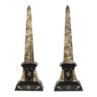Egyptian Revival Obelisks - A Pair