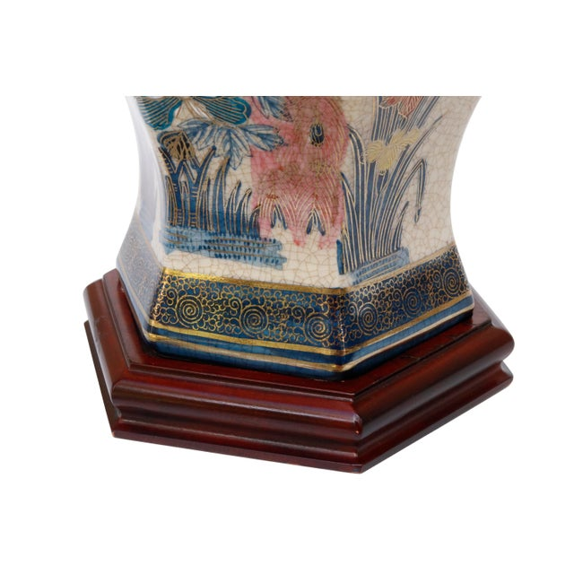 Late 20th Century Chinoiserie Porcelain Table Lamp by Knob Creek For Sale - Image 5 of 8