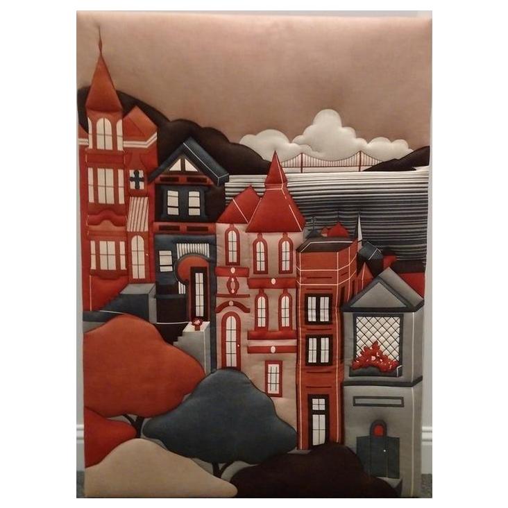 Shelley Winsor Hand Printed San Francisco Scene