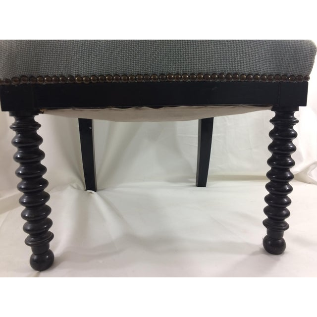 Blue Napoleon Ebonized Spindle Chair For Sale - Image 8 of 9