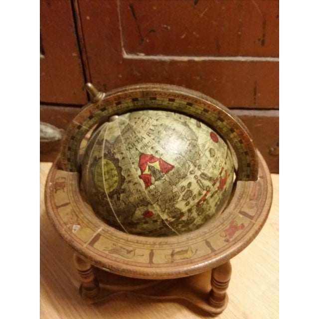 Vintage Italian Mini Old World Horoscope Globe - Image 3 of 8