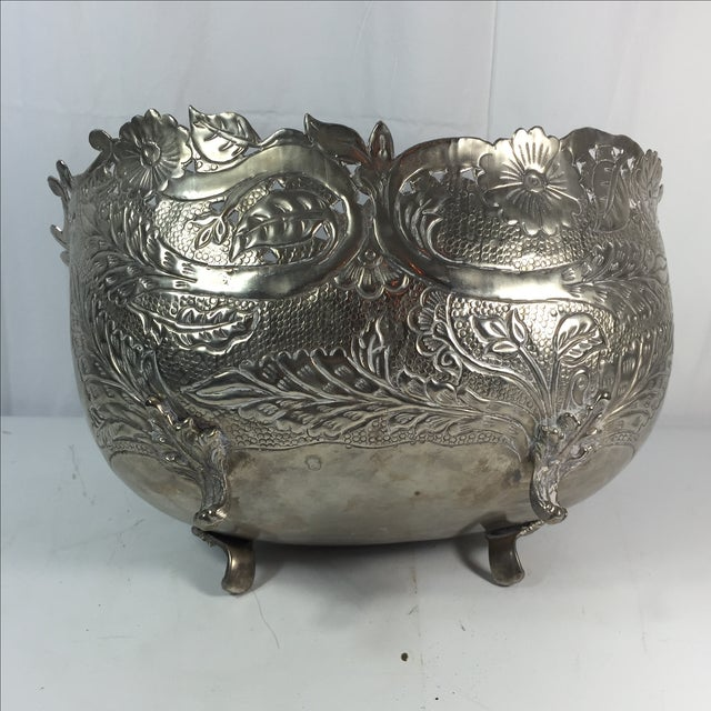 Silver Plated Planter - Image 4 of 6
