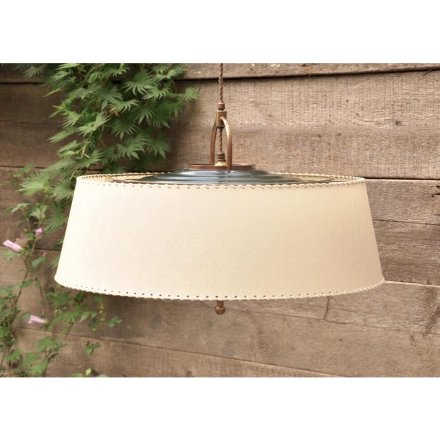 "Animal Skin Amba ""Lyss"" Swing-Arm Wall Lamp, Switzerland, 1940s For Sale - Image 7 of 8"