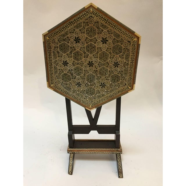 Egyptian Octagonal Side Table For Sale In Los Angeles - Image 6 of 9