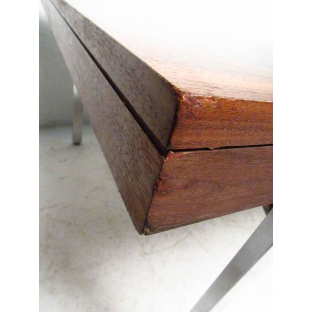 Mid-Century Rosewood Inlay Dining Table For Sale - Image 5 of 8