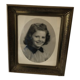 Vintage 1950's Brass Coated Photo Frame 8 X 10 For Sale