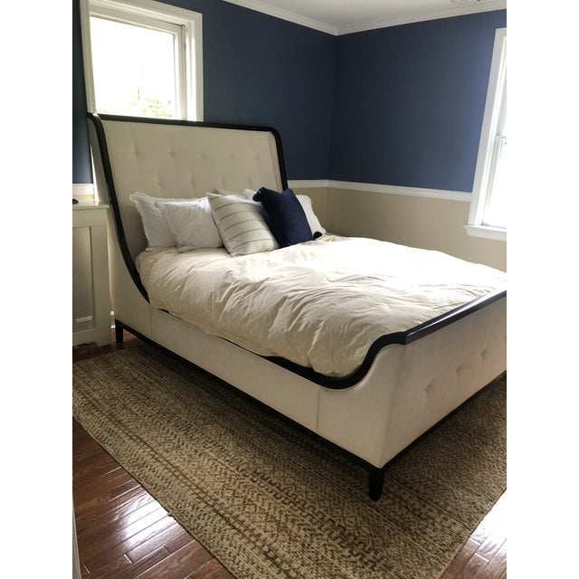 Jet Set Luxurious Upholstered Bed For Sale - Image 10 of 12