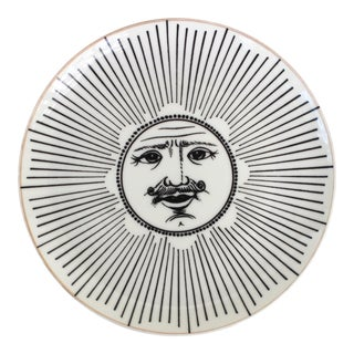 "1960s Porcelain Plate ""Soli E Lune"" by Piero Fornasetti For Sale"