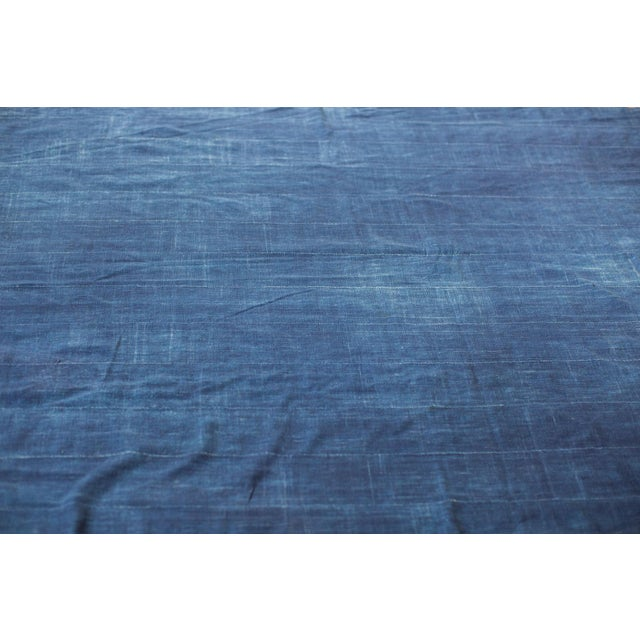 "Vintage Indigo African Batik Throw - 4' x 6'3"" - Image 2 of 7"