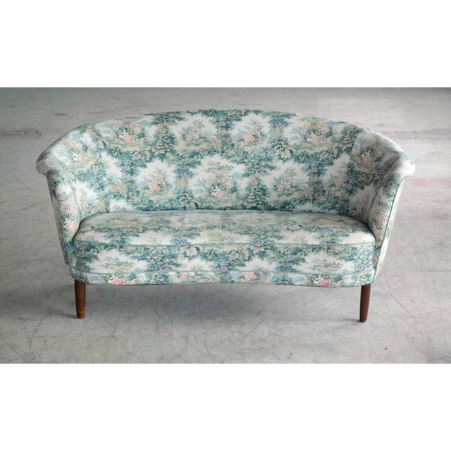 Beautiful and rare Carl Malmsten loveseat or small sofa. Carl Malmsten was a strong proponent of traditional Swedish...