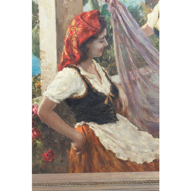Late 19th Century Massive 6 Foot Italian Painting For Sale - Image 5 of 6