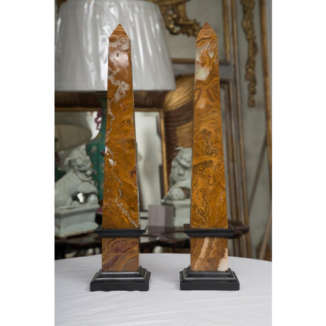 Marble Pair of Marble Obelisks For Sale - Image 7 of 7