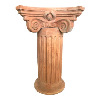 Italian Garden Column With Capitello For Sale