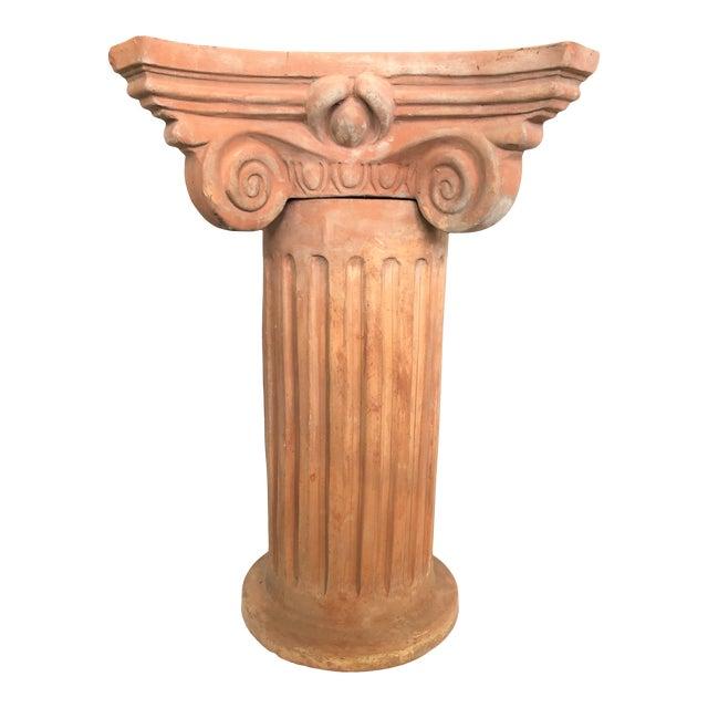 Italian Garden Column With Capitello For Sale