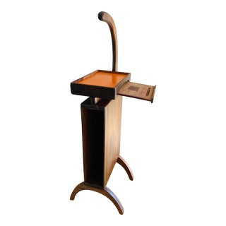 Antique Wood Telephone Phone Stand Table Storage For Sale